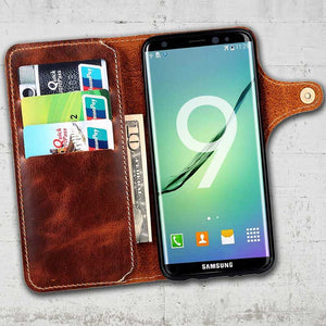 Leather Wallet case for Galaxy S9