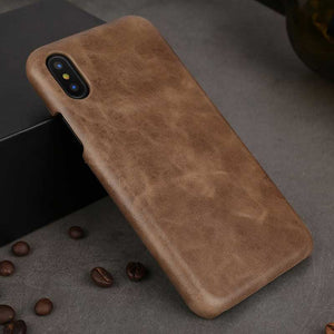 Brown iPhone X genuine Leather cover