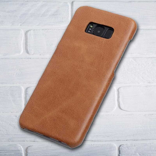 Brown Leather Galaxy S8 plus cover