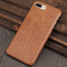 Load image into Gallery viewer, Brown Genuine Leather iPhone 8 plus case