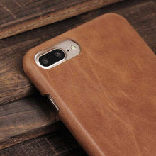 Load image into Gallery viewer, Brown Genuine Leather iPhone 7 case
