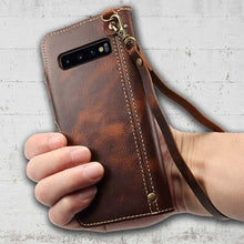 Load image into Gallery viewer, Leather Strap Band for Samsung Galaxy phone S10 plus