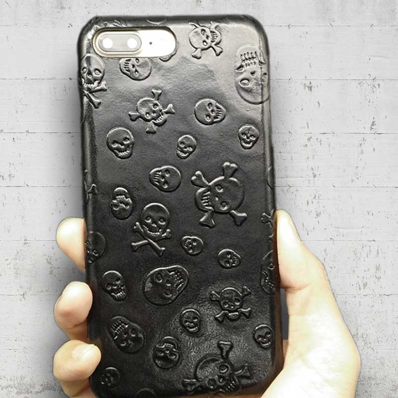 pretty nice 4dbd4 9a7a9 Leather Skull case for iPhone 8
