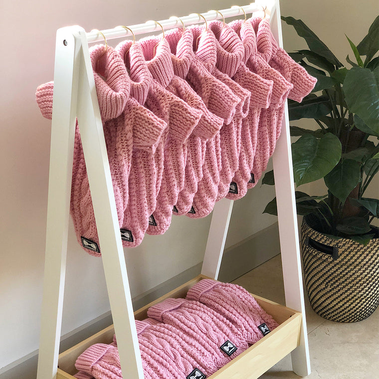 NEW! Cosy Knitted Jumper: Baby Pink