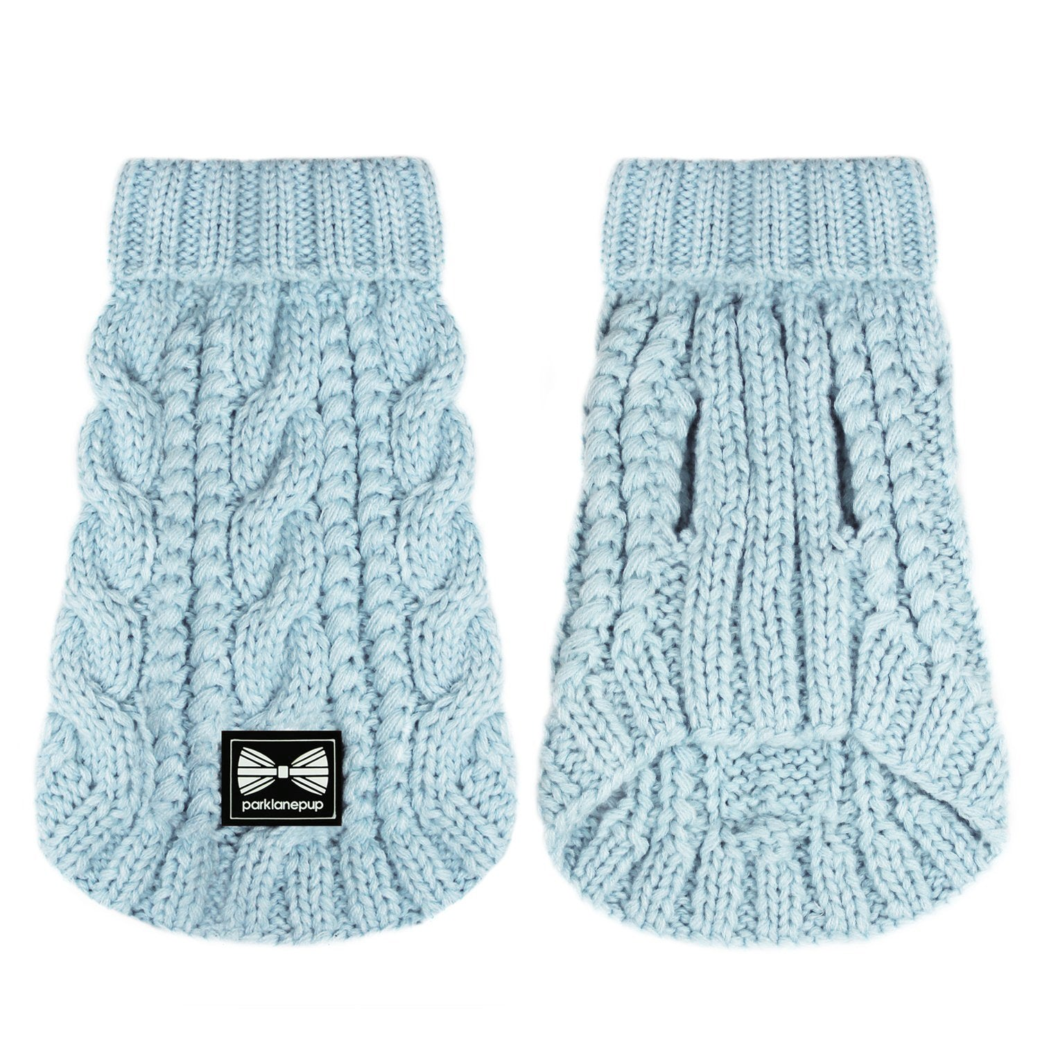 (Sleeveless) Cosy Knitted Jumper: Baby Blue