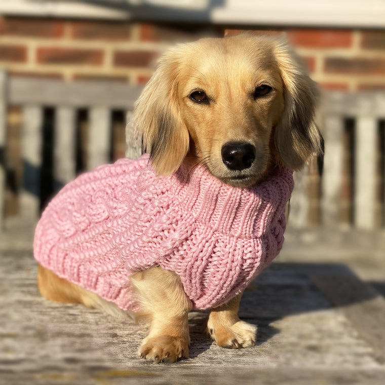 NEW! (Sleeveless) Cosy Knitted Jumper: Baby Pink