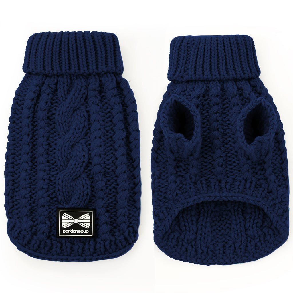 NEW! Cosy Knitted Jumper: Dark Navy
