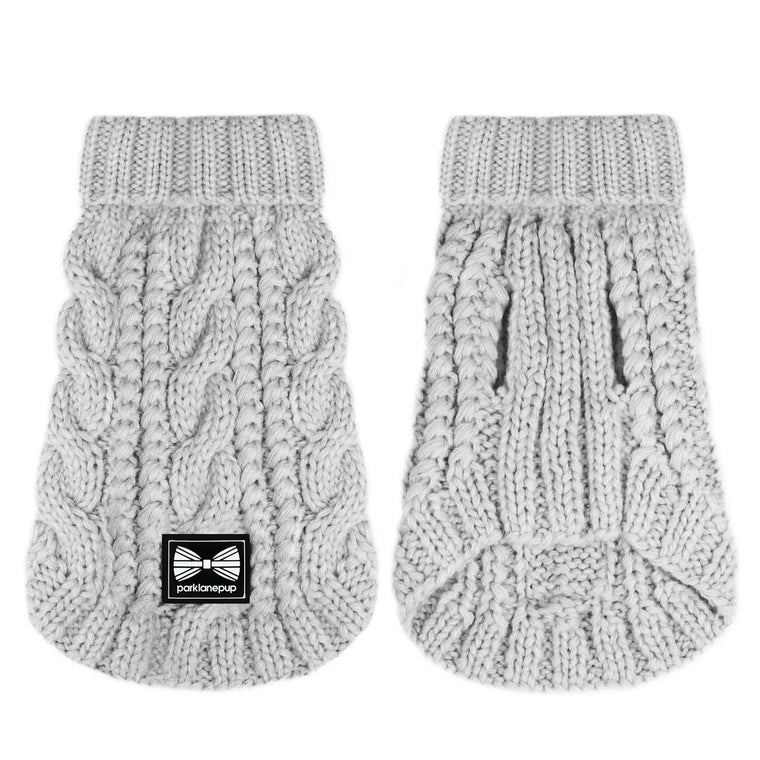 (Sleeveless) Cosy Knitted Jumper: Light Grey