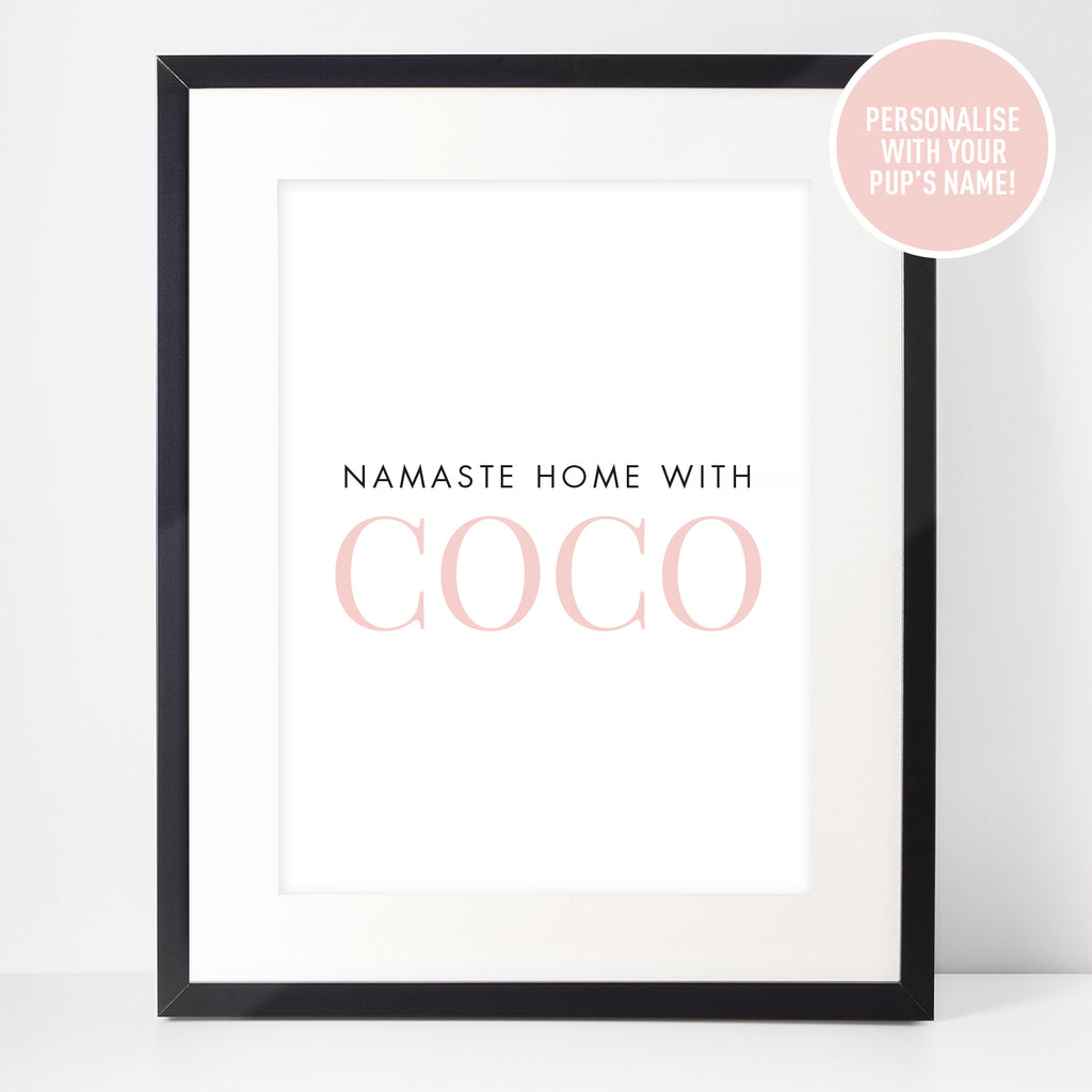 Personalised Framed Print: Namaste Home