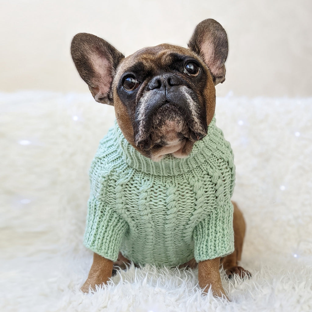 Cosy Knitted Jumper: Peppermint