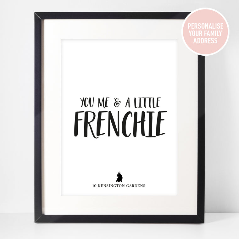 Personalised Framed Print: You Me & A Little...