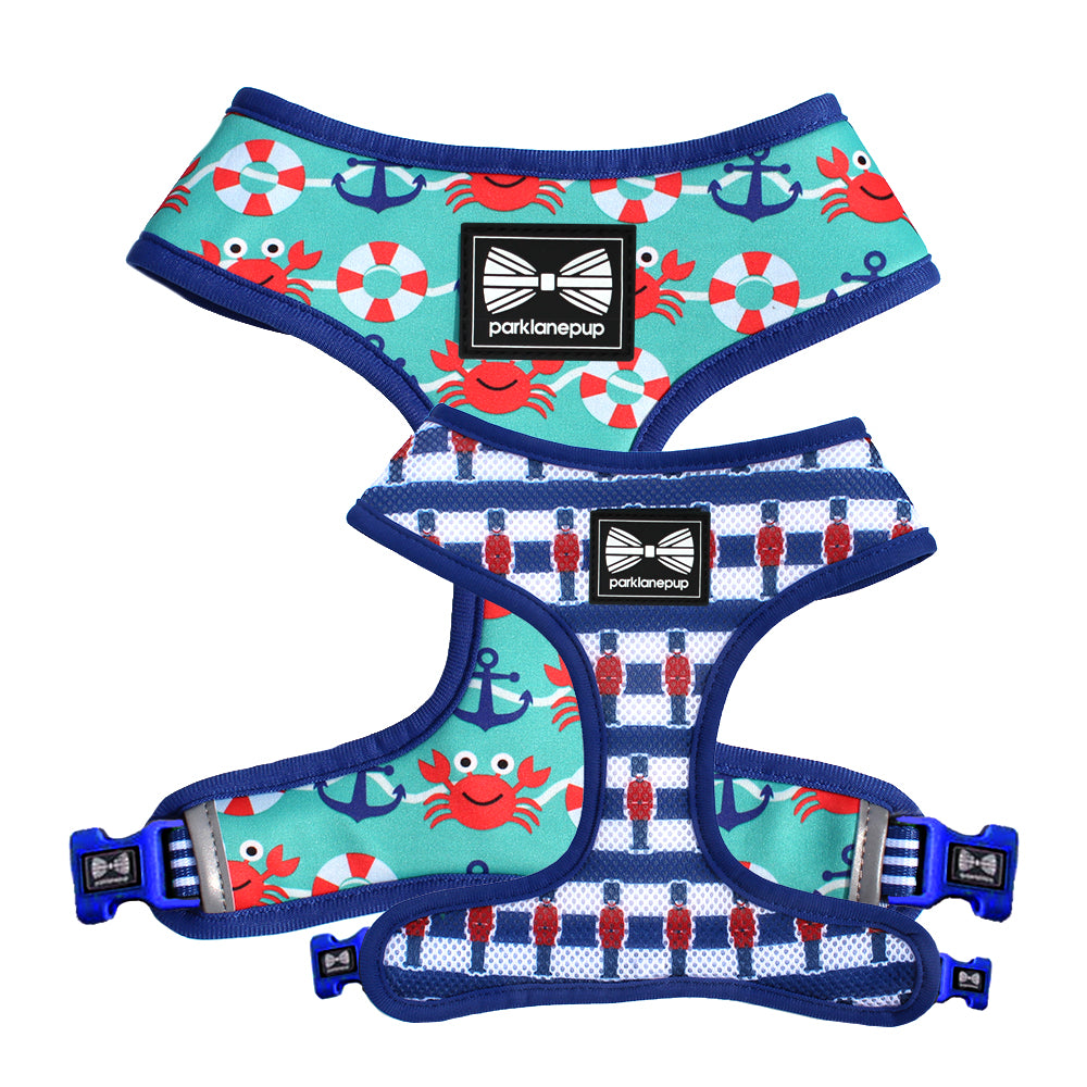 Reversible dog harness
