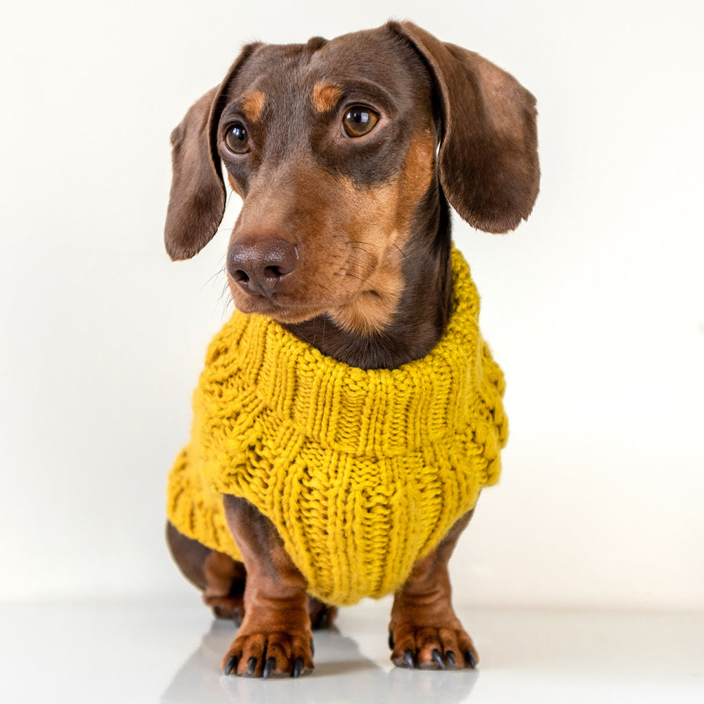 NEW! (Sleeveless) Cosy Knitted Jumper: Mustard