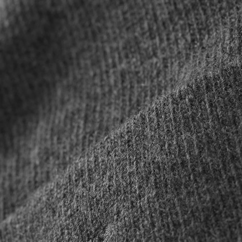 Cashmere Blend Combination Dark Grey