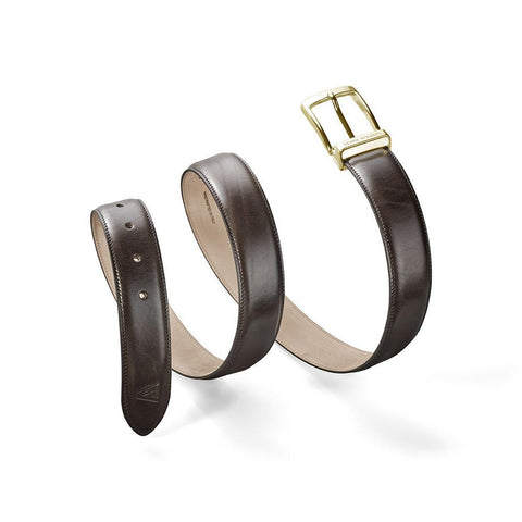 Calfskin Belt Brown-Gold