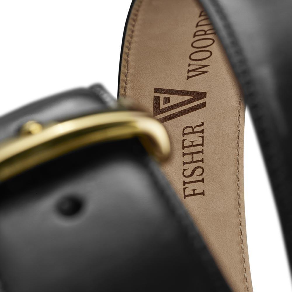 Calfskin Belt Black-Gold