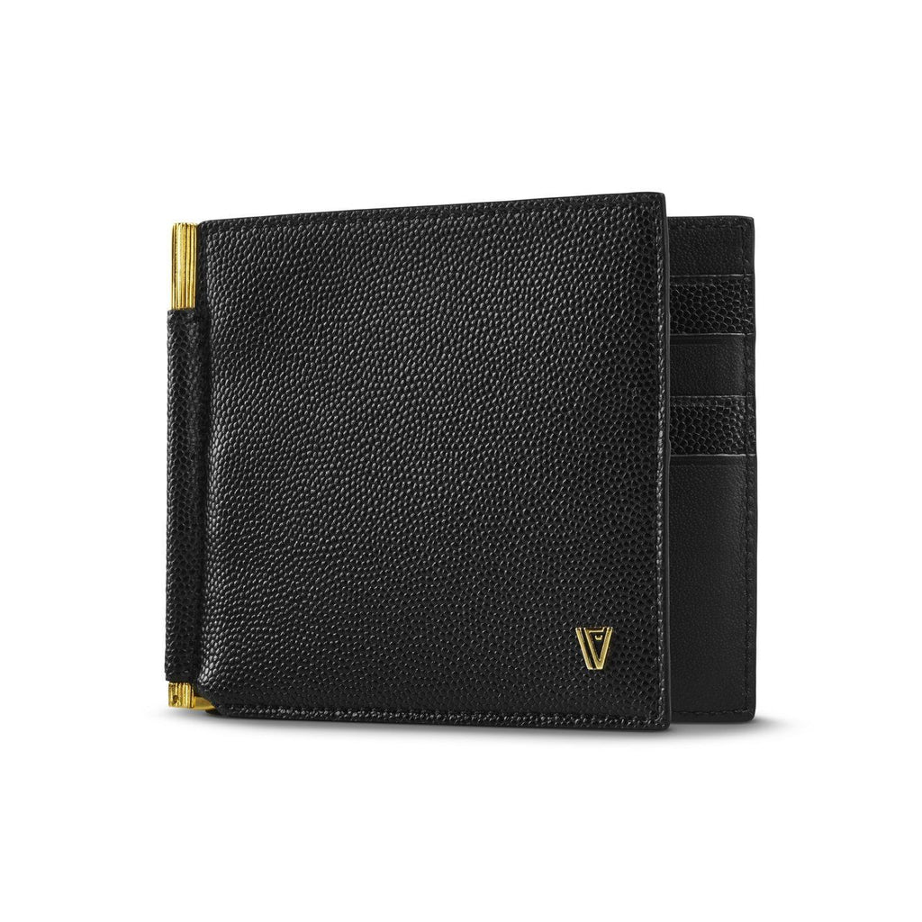 Caviar Moneyclip Wallet Black-Gold
