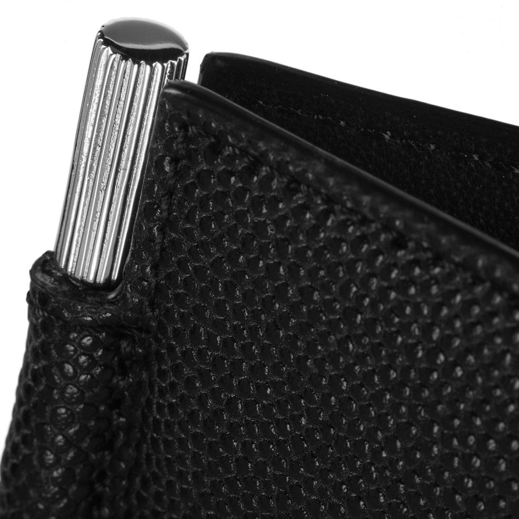 Caviar Moneyclip Wallet Black-Silver