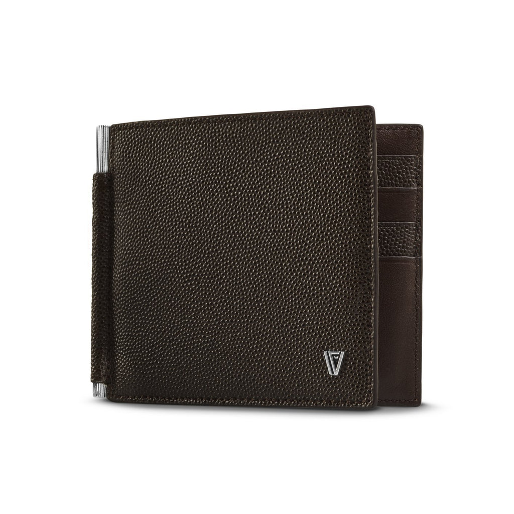 Caviar Moneyclip Wallet Brown-Silver