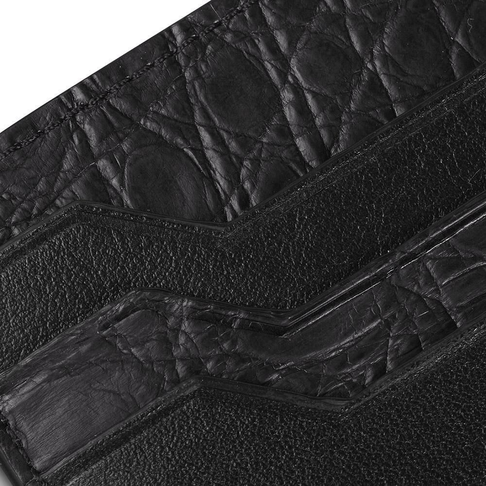 Alligator Cardholder Black Gold
