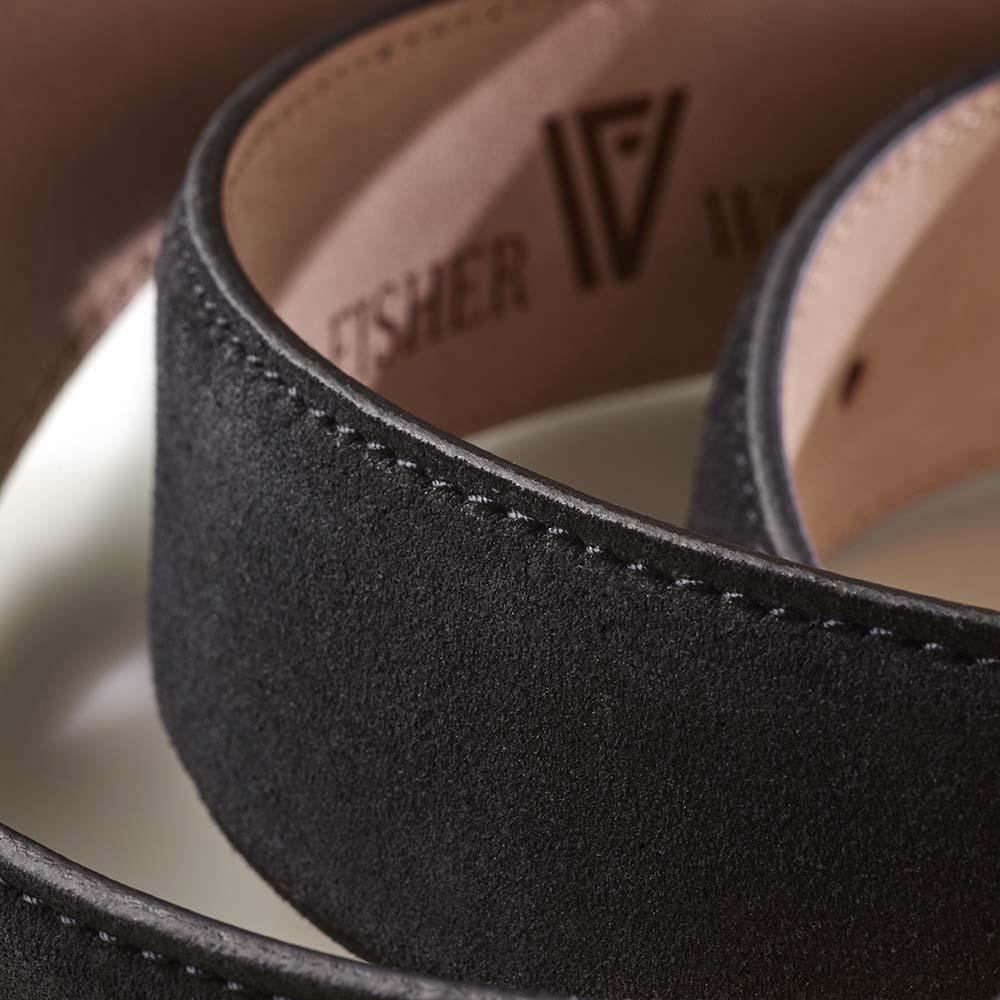 Suede Belt Black Gold