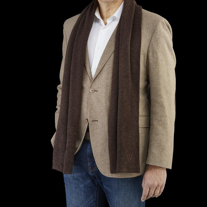 Cashmere Blend Scarf Brown