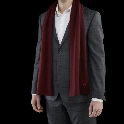 Merino Scarf Bordeaux Red