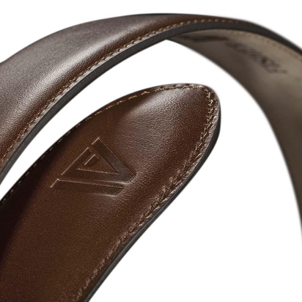 Calfskin Belt Cognac-Gold