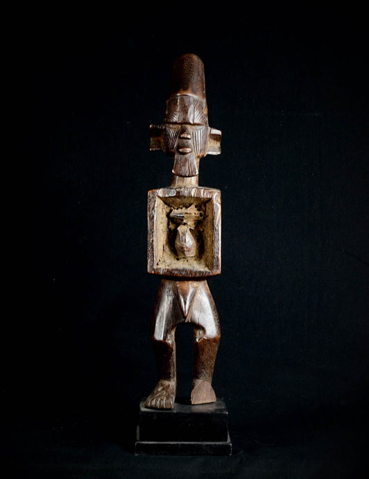 Beautiful SUKU or YAKA fetish figure with magical Bilongo - Democratic Republic of the Congo