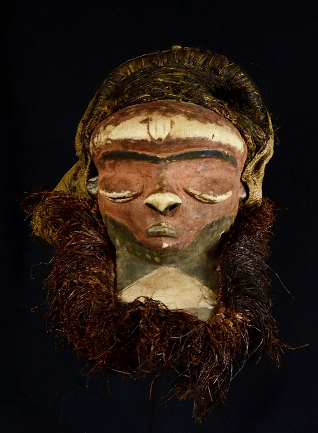 MBUYA or KATUNDU style Female Pende Mask. D.C.R.