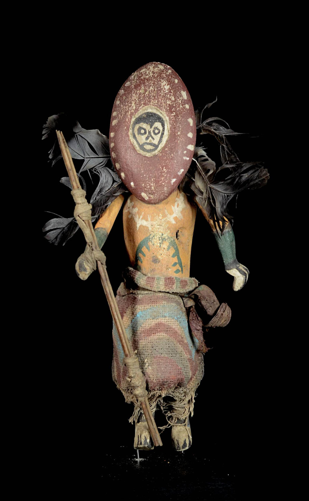 Great KACHINA Doll from the HOPI Indians with spears - Amerindians - USA