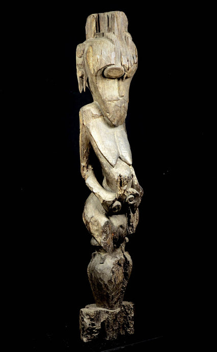 Huge Hardwood Hampatong Figure from the Dayak Ngadju or Ot Danum peoples- Borneo