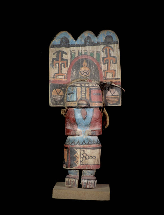 Kashina puppet from the Hopi Indians with a big Helmet - Arizona - Usa