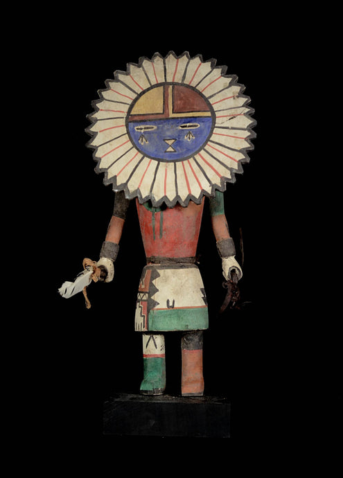 Kashina puppet from the Hopi Indians with round mask - Arizona - Usa