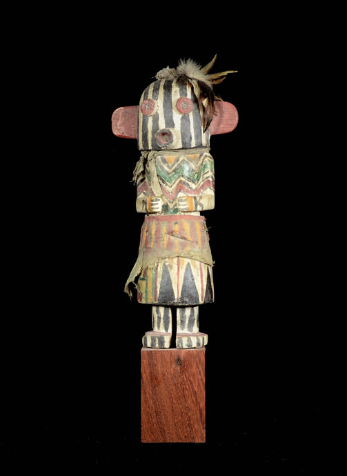 Kashina from the Hopi Indians with striped mask - Arizona - Usa