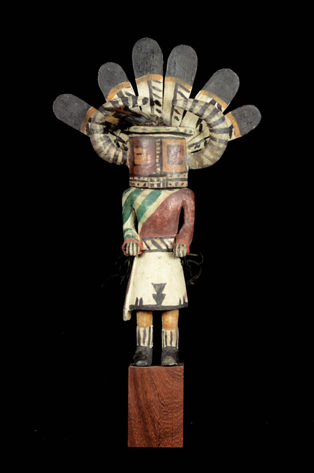 Kashina from the Hopi Indians with big horns - Arizona - Usa
