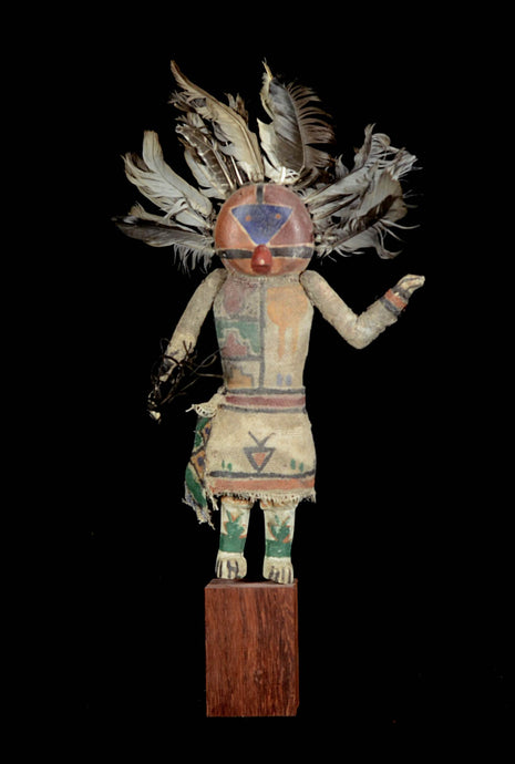 Kashina from the Hopi Indians with feather hat - Arizona - Usa