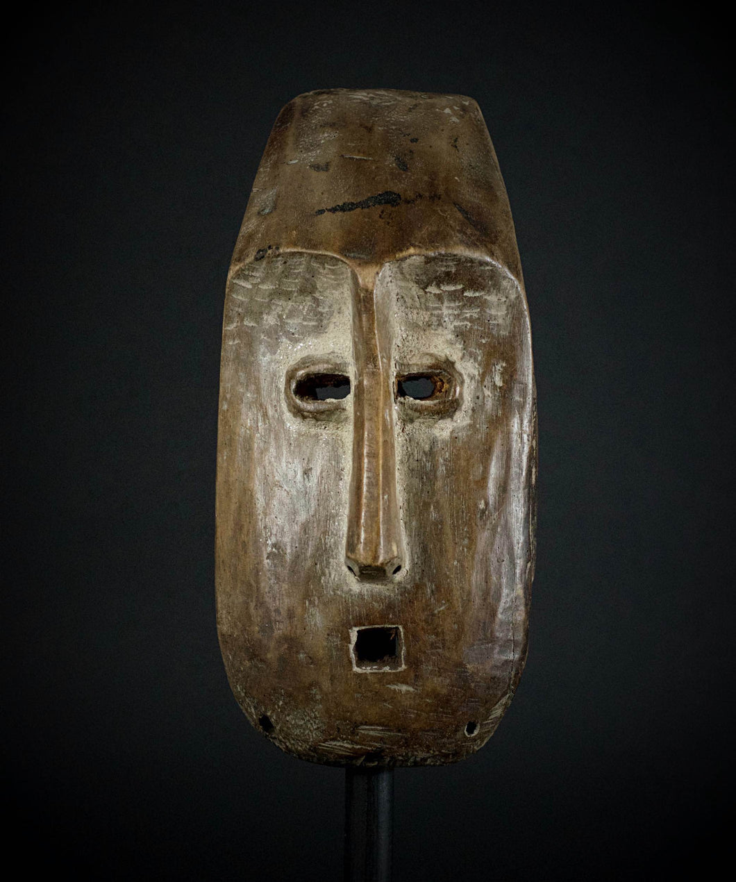 Rectangular LEGA Mask from the Bwami Society with scarifications - Democratic Republic of the Congo.