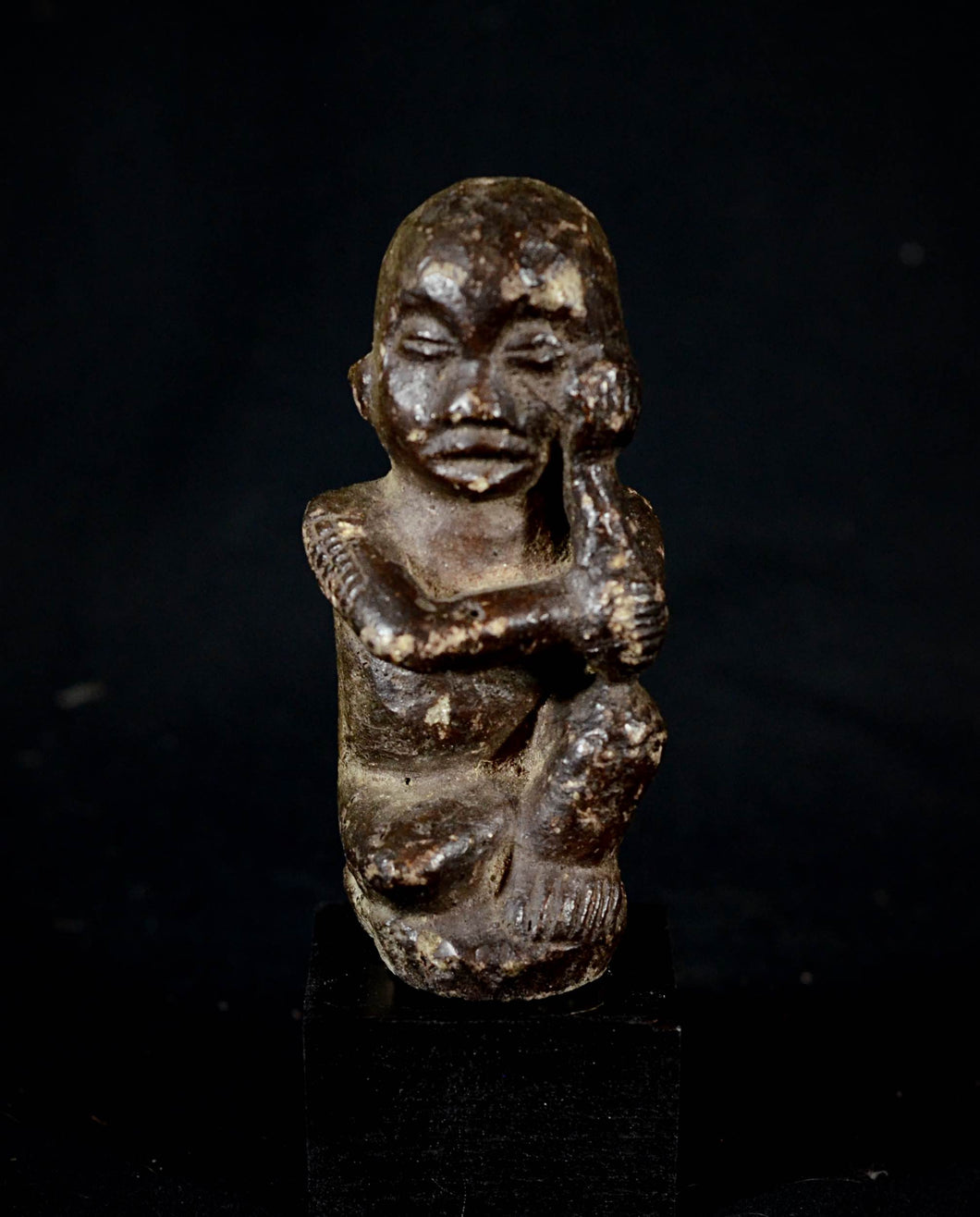 Stone Tumba Figure from the Bambona. D.R.C.