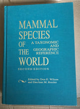 Book : Mammal Species of the World A taxonomic and geographic reference