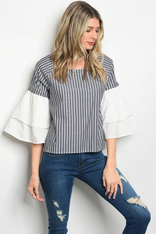 Dramatic Bell Sleeve Top