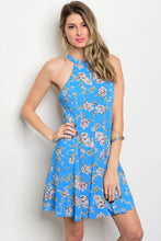 Floral Printed Halter Dress