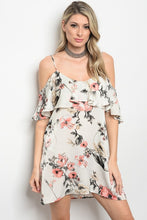 Artsy Floral Cold Shoulder Dress