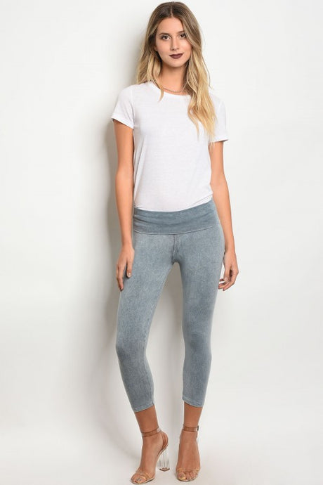 Grey Mineral Washed Leggings