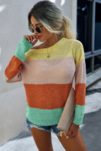 Colorblock Long Sleeve Sweater