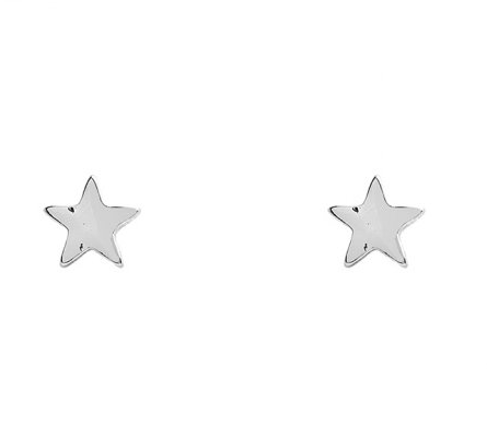 Silver Star Post Earrings