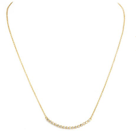Gold Curve Bar Necklace