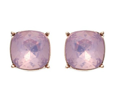 Pink Opal Crystal Earrings