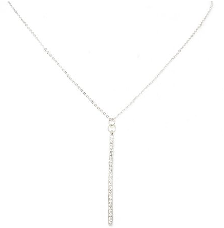 Silver Bar Pendant Necklace