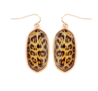 Leopard Jada Drop Earrings